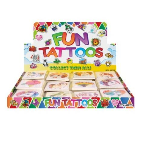 48 x Unicorns - Packs of 12 Mini Tattoos Wholesale Box